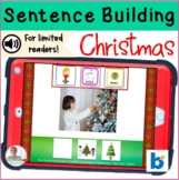 BOOM Cards | Sentence Building Christmas | No Print Activities | Teletherapy