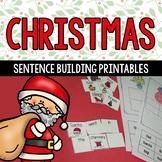 Christmas Sentence Building Word Work