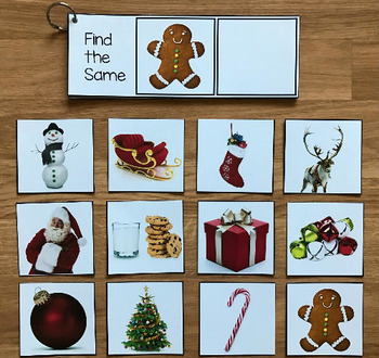 Christmas Sentence Comprehension and Matching Activities w/ Real Photos