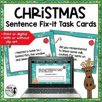 Christmas Editing Task Cards