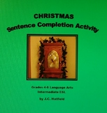Christmas Sentence Completion Activity