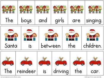 Christmas Sentence & Paragraph Scrambles