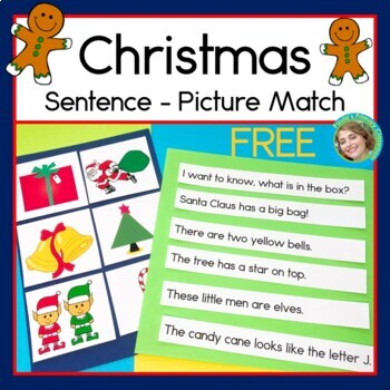 Christmas Sentence Picture Match Reading Center