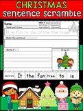Christmas Sentence Scramble Worksheets