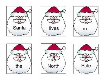 Christmas Sentence Scrambles