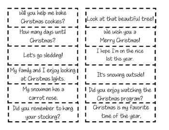 Christmas Sentence Sort Activity