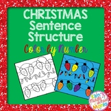 Christmas Sentence Structure Color by Number