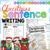 Christmas Sentence Writing Stems