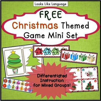Christmas Language Games- Sentences, Compare/Contrast and