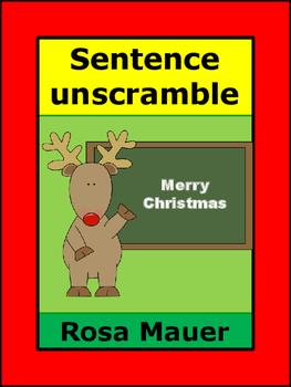 Christmas Sentences Unscramble