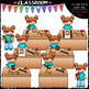 Christmas Sequence Clip Art & B&W Bundle 1 (4 Sets)