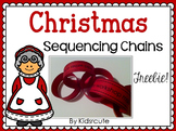 Christmas Craftivity: Sequencing Chains FREEBIE!