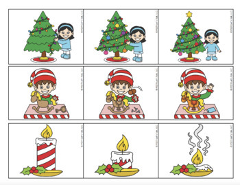 Christmas Sequencing - Christmas Tree Puzzles