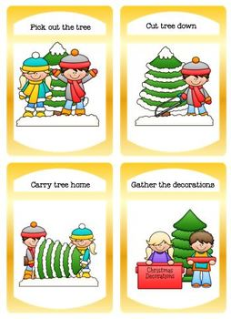 Christmas Sequencing and Cut and Paste Bundle