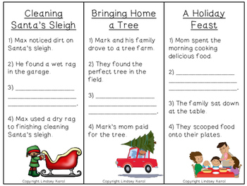 Christmas Sequencing and Predicting Skills