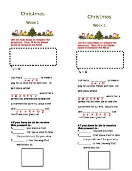 christmas series for sunday school 2 lessons includes worksheet activities