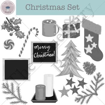 Christmas Set One clip-art