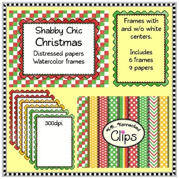 Christmas Shabby Chic Paper and Frame Collection