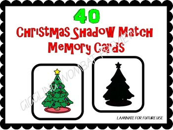 Christmas Shadow Match Mats