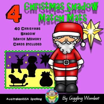 Christmas Shadow Match Mats