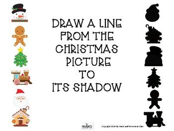 Christmas Shadow Matching, Preschool Christmas, Kindergarten Christmas, Music