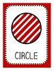 Christmas Shape Posters and Worksheets, 1st grade common core