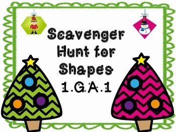 Christmas Shape Scavenger Hunt