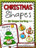 Christmas Shape Sorting --- 2D Plane Shape Sorting