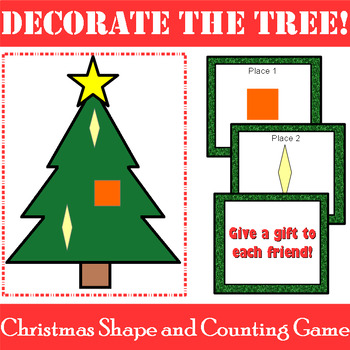 Christmas Shape and Counting Game