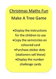 Christmas Shape and Number Game- make a tree