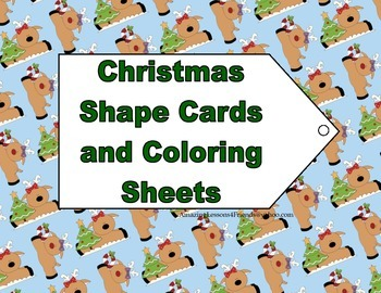 Christmas Shape cards and Coloring Sheets