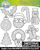 Christmas Shaped Mazes Clipart Set {Zip-A-Dee-Doo-Dah Designs}