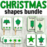 Christmas Shapes Bundle for Hands-on Activities or Centers