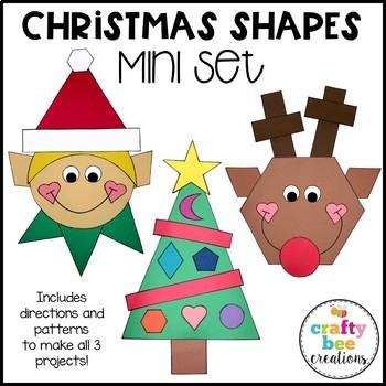 Christmas Shapes Cut and Paste Mini Set