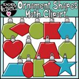 Christmas Shapes Math Clipart, Ornaments