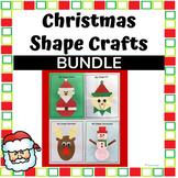 Christmas Shapes Paper Crafts- Santa, Reindeer, Snowman & Elf