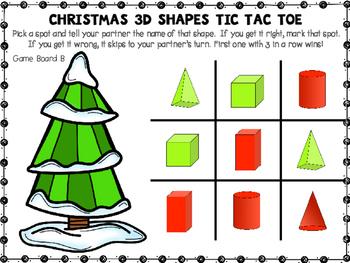 Christmas Shapes Tic Tac Toe