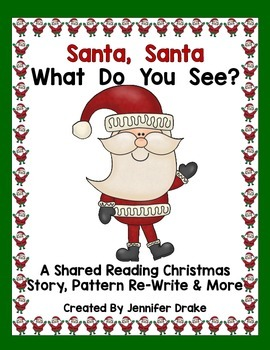 Christmas Shared Reading Book, Pattern Re-Write, Ind'l Book+! PreK-1