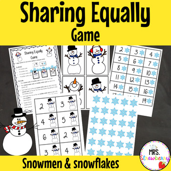 Christmas Sharing Equally Game {Snowmen and Snowflakes}