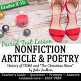 Christmas Activities for Text, Mini Lesson Paired Info Text & Poetry