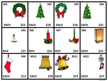 "Christmas Shopping ""Christmas List"" (Money Activities)"