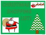 Christmas Shopping List (Money Activities)