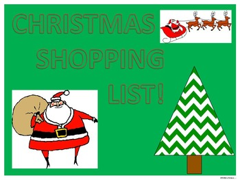 Christmas Shopping List (Money Activities)