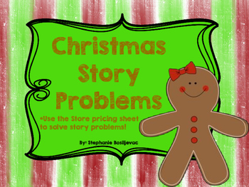 Christmas Shop Story Problems