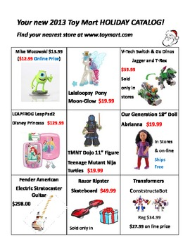 Christmas Shopping Grades 5-8