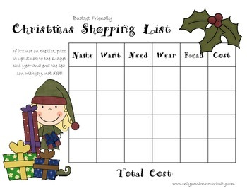 Christmas Shopping Helper