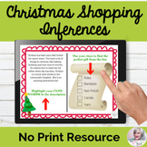 Making Inferences With Christmas Shopping NO PRINT Speech Therapy
