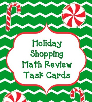 Christmas Shopping Math Review Task Cards