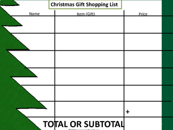 Christmas Shopping Mathematical Challenge