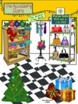 Christmas Shopping Problem Solving Task Cards & Activities for Grades 1-2